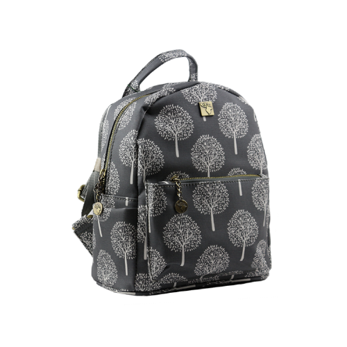 House of Tweed Small Rucksack Handbag in Grey Mulberry Tree